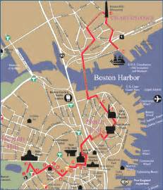 Boston Freedom Trail Map by Gallery For Gt Boston Freedom Trail Map