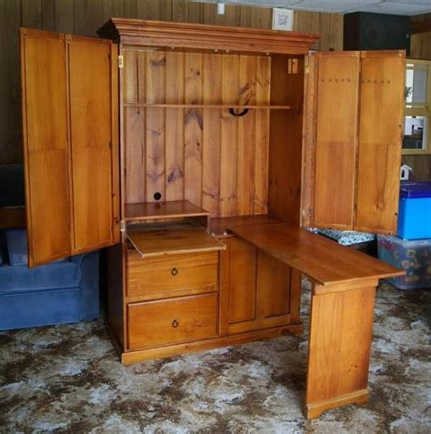 one computer armoire computer cupboard with