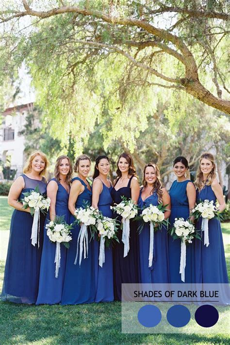 Navy Black Flower Mix mix and match bridesmaid dresses