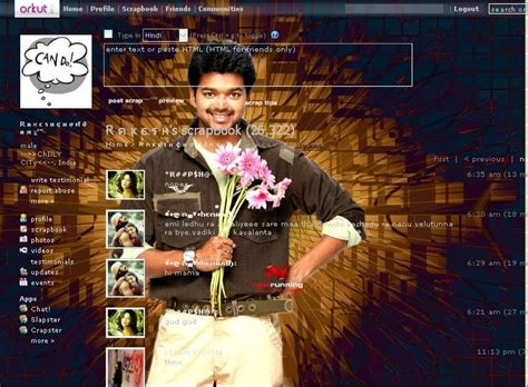 Themes Vijay | orkut themes vijay theme