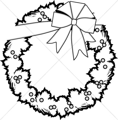 16 christmas ornament clipart black and white merry