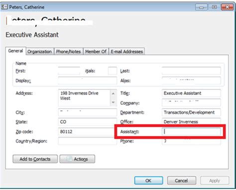 Assistant Outlook by Uc Communication Knowledge Is Power Update Assistant Name Field In Outlook Gal