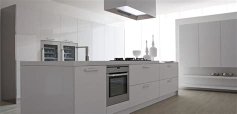 contemporary white kitchens modern white lacquer compace kitchen island design