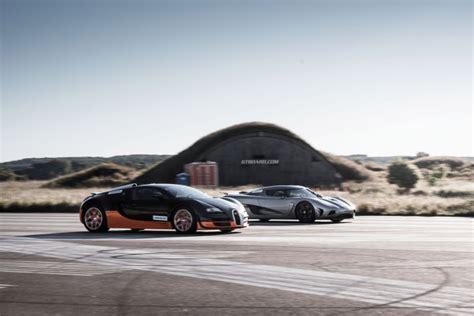 Bugatti Veyron Vs Koenigsegg Bugatti Veyron Vitesse Vs Koenigsegg Agera Drive Away