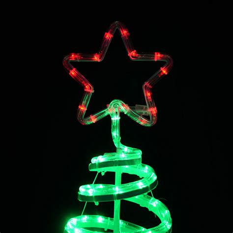 Christmas Spiral Tree Led Rope Light With Star 120cm Rope Light Spiral Tree