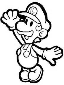 luigi coloring pages paper luigi coloring page