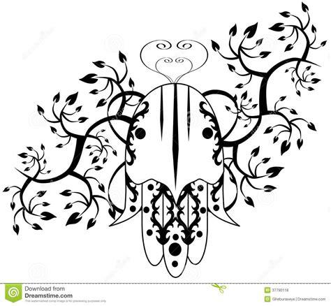 tattoo di islam hand of fatima tattoo isolated royalty free stock photos