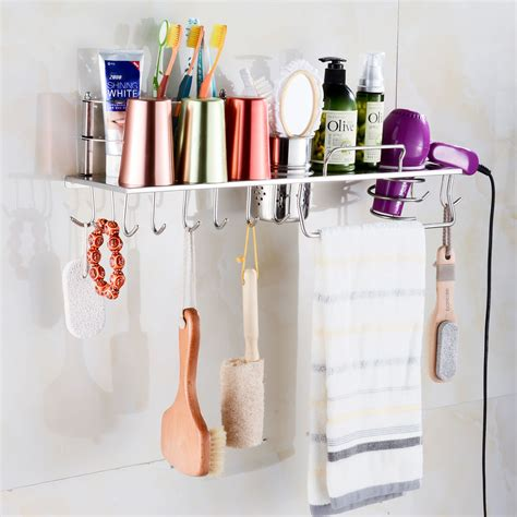 hair dryer bathroom storage caddy stainless steel grand hair dryer storage holder organizer