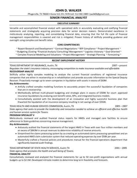 sle of financial analyst resume best financial analyst resume sle