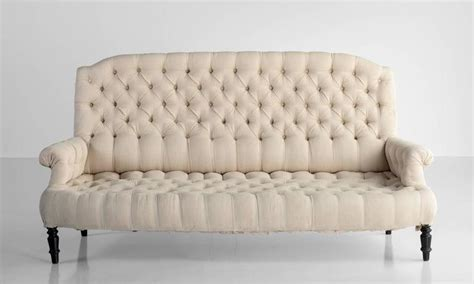 french linen sofa french linen button back sofa circa 1900 for sale at 1stdibs
