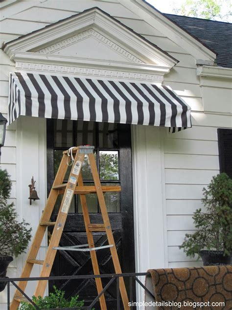 how to build an awning over a window simple details diy awning tutorial