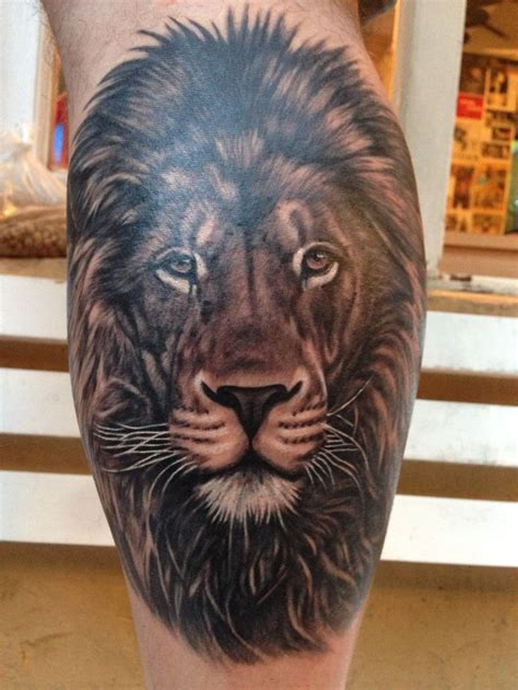 imagenes de leones tatoo tattoo lion tatuaje de le 243 n realismo blanco y negro