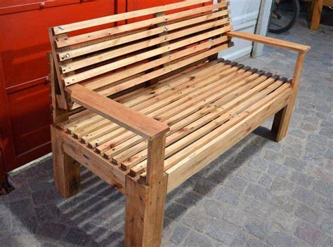 how to make a wooden bench for the garden wooden bench made of pallets 101 pallets