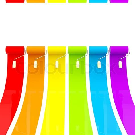 bright paint colors colorful glossy bright rainbow paint rollers with color