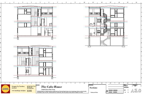 Section Drawing Of A House by Modern House Plans By Gregory La Vardera Architect 0380
