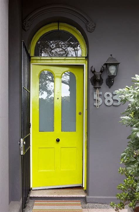 lime green door sydney home 183 orlando and nicola reindorf and family the design files yellow mustard grey
