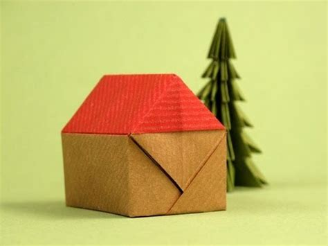 How To Make 3d Origami House - origami house casita