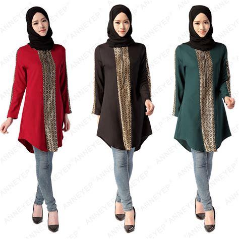 kaftan muslim dress sleeve abaya shirt tops