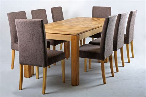 solid oak extending dining table and chairs set chocolate funique co uk