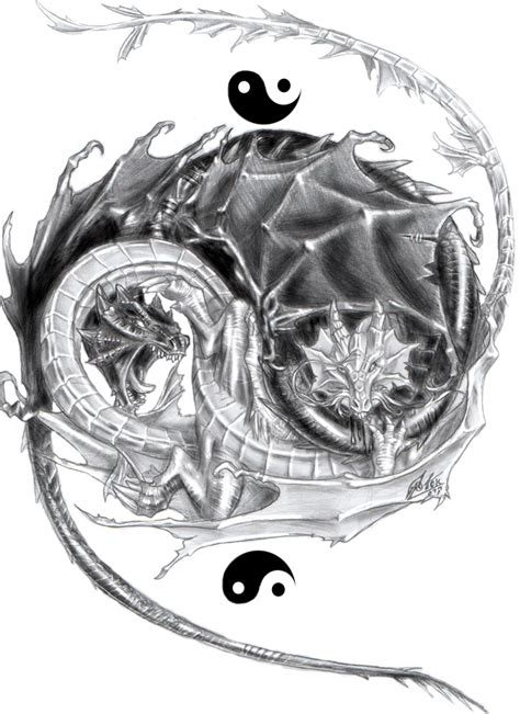 yin yang dragon tattoo designs yin yang designs