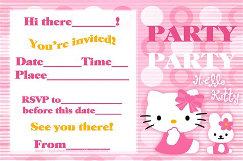 hello kitty printable invitation template hello kitty coloring pages