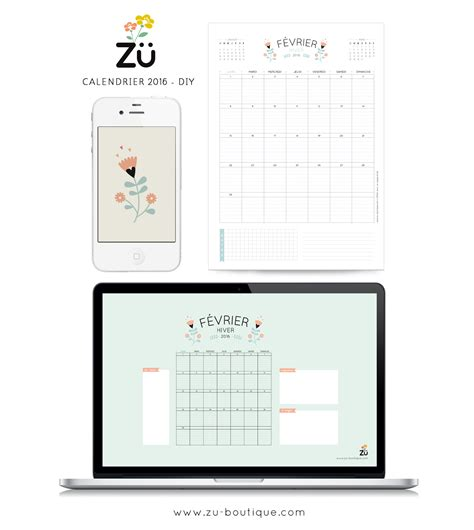 Calendrier Do It Yourself Le Calendrier Diy F 233 Vrier 2016 Z 252 Le