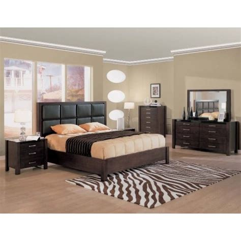 contemporary bedroom furniture canada creative furniture modern wenge bedroom set with leather