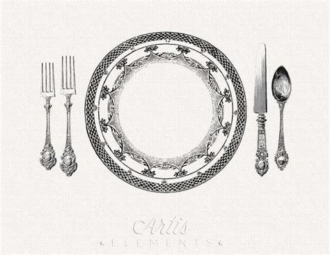 fancy place setting printable placemat elegant place setting dinner plate knife