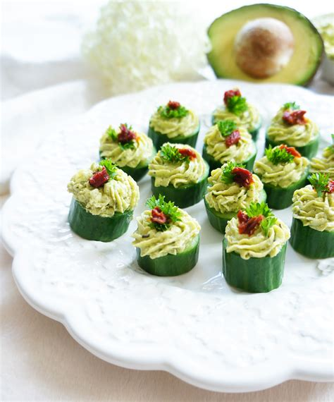 light appetizers for parties haute healthy living avocado goat cheese cucumber