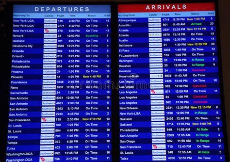 departures  arrivals  dallas airport editorial stock