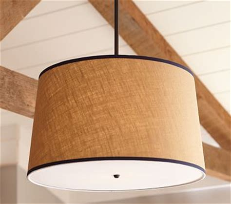 pottery barn flush mount light khaki navy drum flushmount light pottery barn