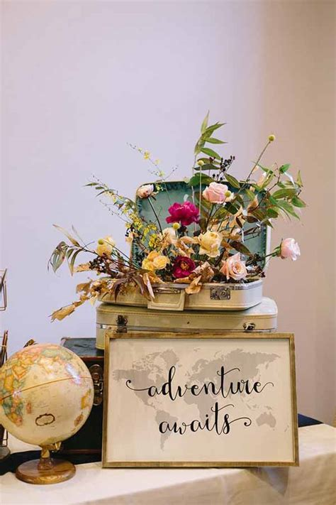 travel themed table decorations travel themed wedding decorations imgkid com the