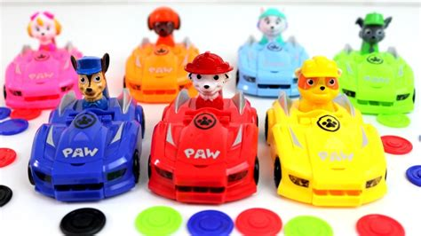 paw patrol preschool toy race cars for kids youtube