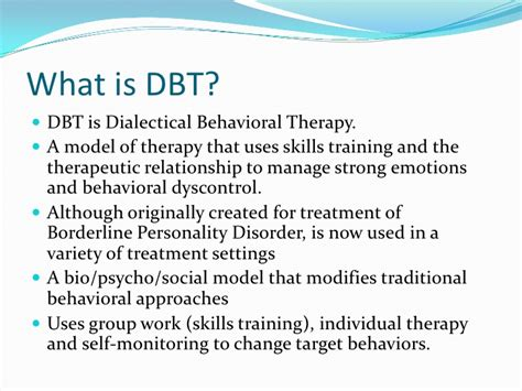 what is therapy what is dbt