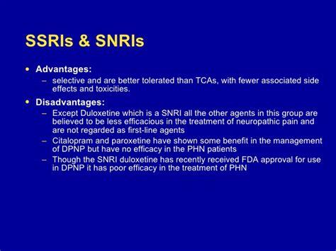 snri better than ssri neuropathic