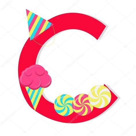 lettere c lettre 171 c 187 de lalphabet stylis 233 avec bonbons image