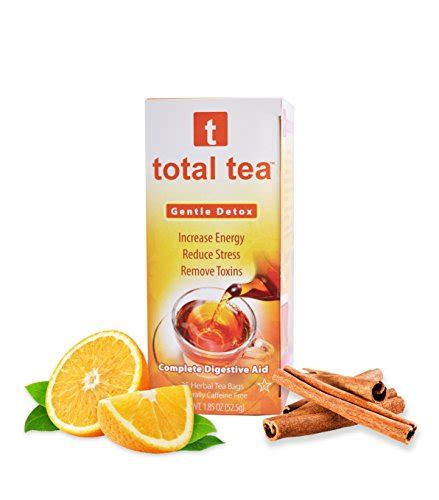 Quit Detox Tea by Total Tea Gentle Detox Tea 25 Herbal Tea Bags May Help