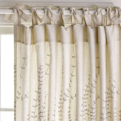 how to hang tab top curtains leaf trail natural lightfilter 180x250cm tie top curtaine