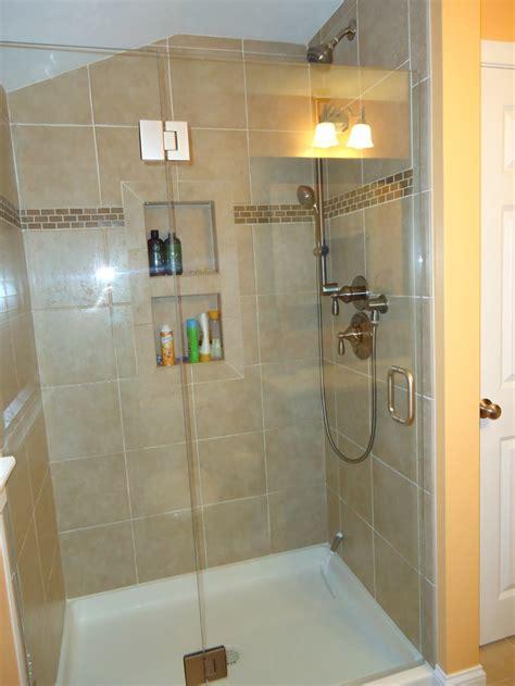 Tile Shower Door Shower Tile Frameless Shower Door Bathroom Ideas Pinterest