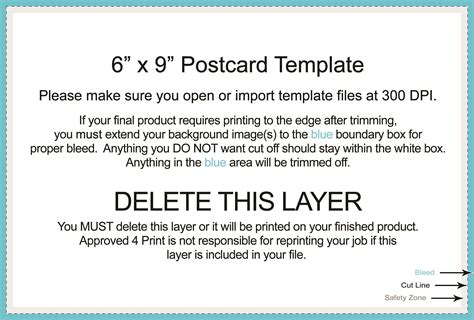 6x9 postcard template untitled document www approved4print
