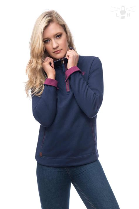 Hoodie Turn Back Crime Navy cotton jersey top womens sweatshirts target