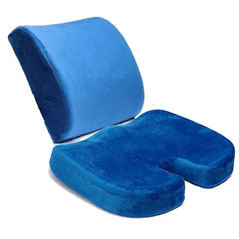 seat cushions deluxe orthopedic seat solution cushion memory foam back ache office chair buy seat