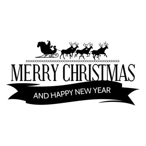 santa sleigh ribbon xmas label transparent png svg vector