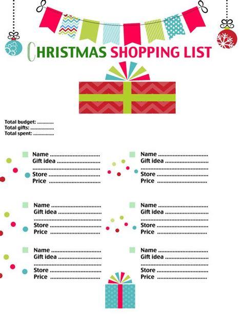 printable christmas list pdf christmas shopping list printable pdf form digital download