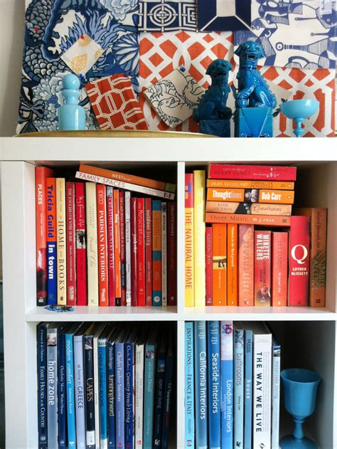 organize books by color 15 minute decorating