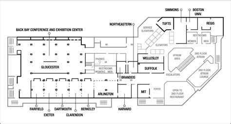 layout of hotel and convention center boston convention center hotel meeting venues boston