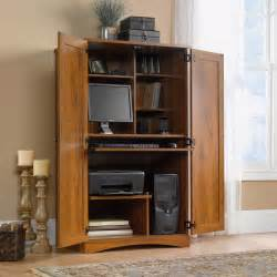 computer armoire harvest mill computer armoire 404958 sauder