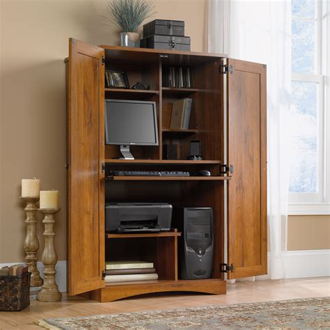 Computer Desk Armoire by Harvest Mill Computer Armoire 404958 Sauder