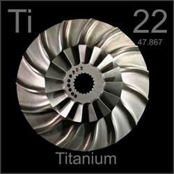 Titanium Of Protons Blisk Bladed Impeller Disk A Sle Of The Element