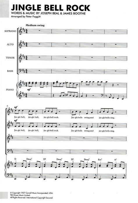 jingle bells rock testo italiano partition pour musique chorale jingle bell rock mixed